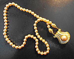 Nolan Miller Pearl Pendant Necklace (Image1)