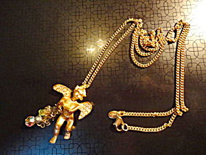 Cupid Crystal Kirk's Folly Necklace (Image1)