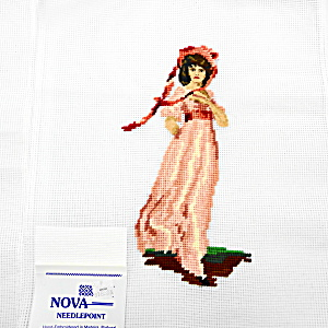 Needlepoint Of Pink Lady