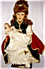 Click to view larger image of Seymour Mann Porcelain Dolls, Sabrina and Baby (Image3)