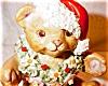 Click to view larger image of Irish Dresden Santa Bear (Image2)