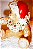 Click to view larger image of Irish Dresden Santa Bear (Image3)