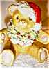 Click to view larger image of Irish Dresden Santa Bear (Image6)