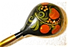 Click to view larger image of Russian Handpainted Cannister with Spoon (Image7)