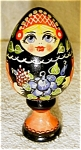 Click here to enlarge image and see more about item 1594: Russian Egg on Stand
