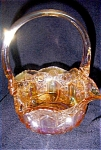 Click here to enlarge image and see more about item 1612: Carnival Glass Basket -LE Smith Glass Co