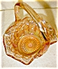 Click to view larger image of Carnival Glass Basket -LE Smith Glass Co (Image5)