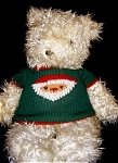 Click here to enlarge image and see more about item 1624: Christmas Bear by Annette Funicello