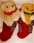 Click here to enlarge image and see more about item 1650: Bear Pair in Stockings by Biolowsky
