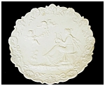 Click to view larger image of Wall Plaque -Bisque Porcelain (Image1)
