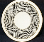 Click here to enlarge image and see more about item 1788: German Bowl-Basketweave Porcelain