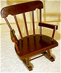 Click here to enlarge image and see more about item 1832: Wooden Doll Rocker