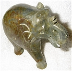 Click here to enlarge image and see more about item 1923: Marble Elephant Sculpture