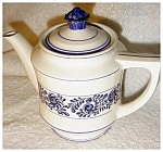 Click here to enlarge image and see more about item 1957: Teapot Blue and White China