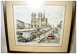Click here to enlarge image and see more about item 2042: Paris Notre Dame Watercolor