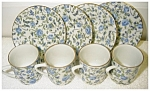 Click here to enlarge image and see more about item 2051: Chintz Rose Dessert Set