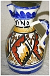 Click here to enlarge image and see more about item 2161: Italian Pottery Pitcher