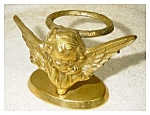 Click here to enlarge image and see more about item 2214: Brass Cupid on Stand