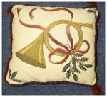 Click here to enlarge image and see more about item 2271: Christmas Pillow in Tapestry