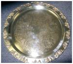 Click to view larger image of Vintage Silverplate Punch Bowl, Tray, Ladle, and Cups (Image2)