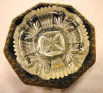 Click here to enlarge image and see more about item 2379: Metal Guiltwork Ashtray