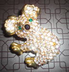 Click here to enlarge image and see more about item 2409: Crystal Panda Pin/Pendant