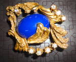 Click to view larger image of Lapis and Goldtone Pin (Image2)