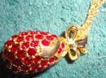 Click to view larger image of Egg Pendant in Red Crystals (Image2)