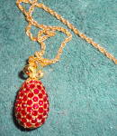 Click to view larger image of Egg Pendant in Red Crystals (Image3)