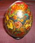 Click here to enlarge image and see more about item 2424: Satsuma Porcelain Egg on Stand
