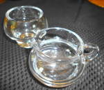 Click to view larger image of Crystal Creamer  and Sugar w/Brass Tray (Image2)