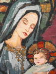 Click to view larger image of Tapestry Wall Hanging Madonna and Child (Image2)