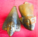 Click here to enlarge image and see more about item 2482: Handcarved Wooden Egyptian Masks