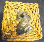 Click here to enlarge image and see more about item 2493: Woven Covered Box