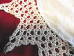 Click to view larger image of Crochet Edge Linen Doily (Image2)