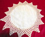 Click to view larger image of Crochet Edge Linen Doily (Image3)