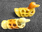 Click here to enlarge image and see more about item 2519: Soapstone ducks