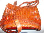 Click to view larger image of Talbot's Leather Woven Bag (Image1)