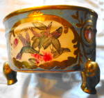 Click here to enlarge image and see more about item 2529: Handpainted China Footed Bowl