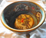Click to view larger image of Handpainted China Footed Bowl (Image3)