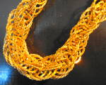 Click to view larger image of Gold Twisted Loop Necklace (Image2)