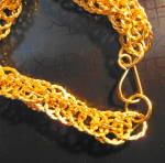 Click to view larger image of Gold Twisted Loop Necklace (Image3)