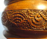 Click to view larger image of Hsnd Carved Wooden Cannister (Image3)