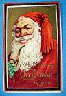 Merry Christmas To You Postcard w/Smiling Santa Claus