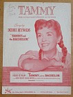 1956 Tammy Sheet Music Debbie Reynolds Cover