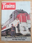 Trains Magazine December 1974 Driver's License