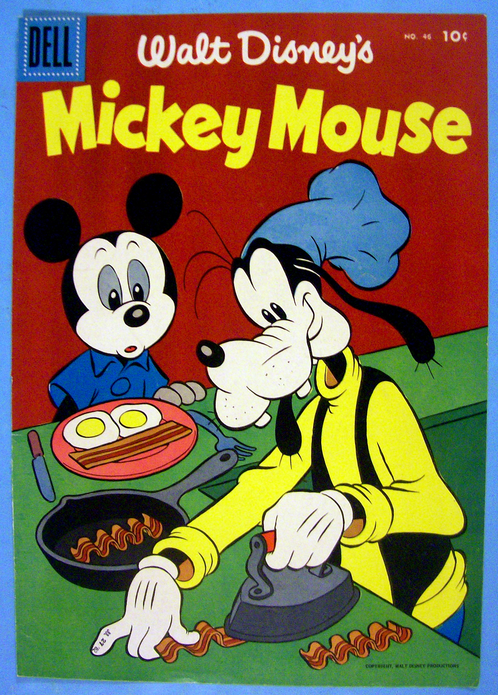 """TIAS Mall > A Date In Time > Cover Art > Comic Covers > Mickey Mouse Comic  Cover #46 1956 Mickey & Goofy""""/></a><br /><span id="""