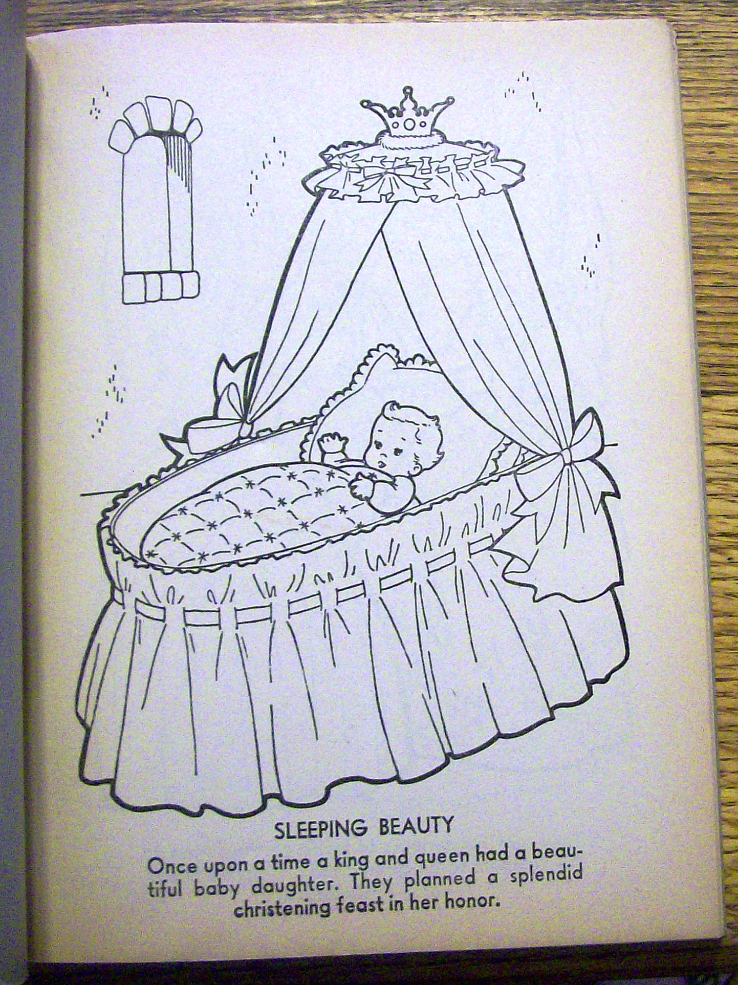 - Reading Sleeping Beauty Coloring Book 1960's Bonnie Books Coloring