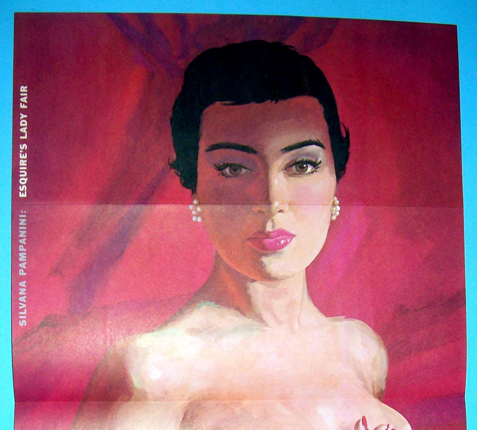 Esquire (Lady Fair) Pin Up Girl 1955 Gina Lollobrigida