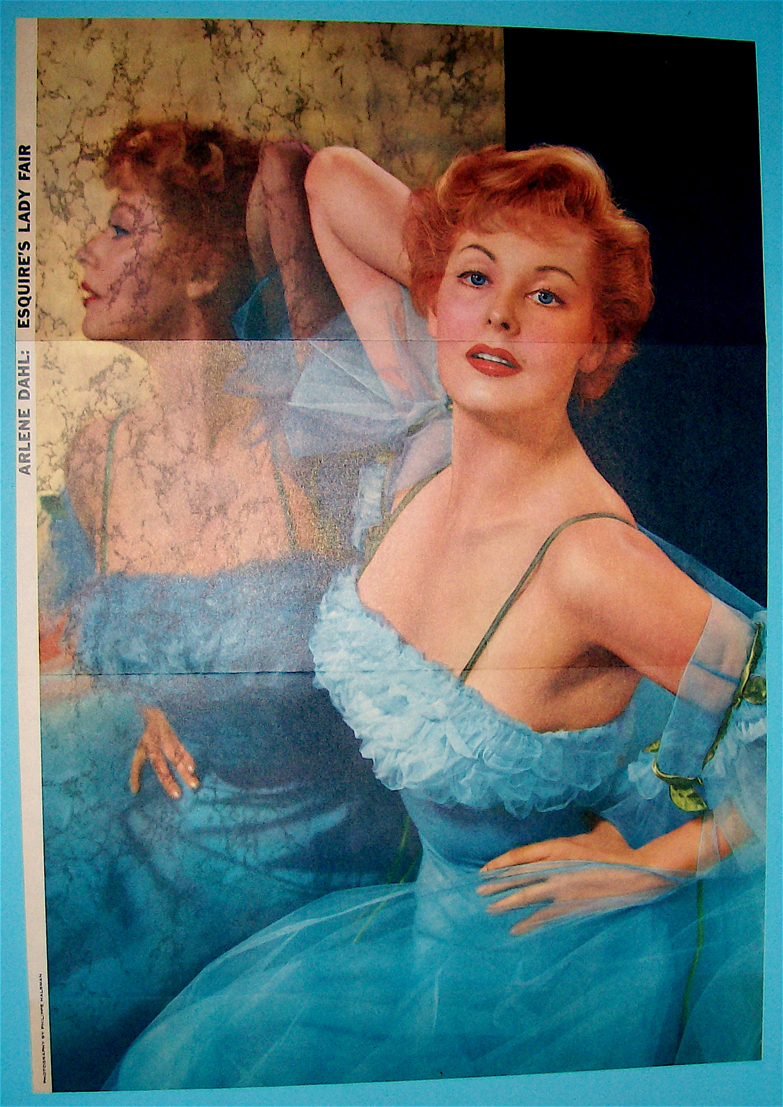 Esquire (Lady Fair) Pin Up Girl 1956 Arlene Dahl (Pinup